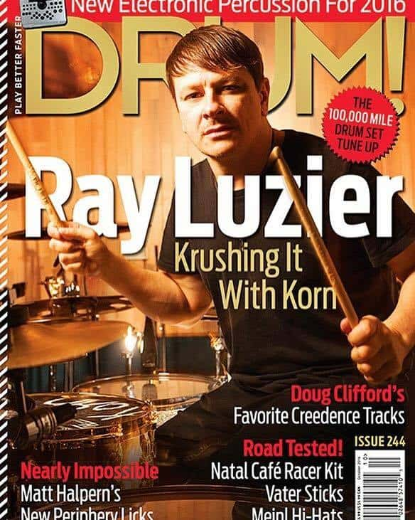 Ray Luzier with TH Drums custom drum
